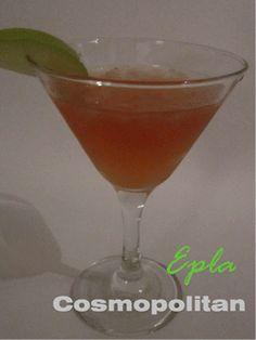 Epla Cosmopolitan - Vodka kokteill #uppskrift #Anna Björk matarblogg