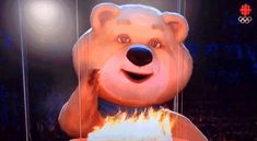 Sochi Bear mascot 'blows out' Olympic flame to cap off a great Olympics for bears | Fourth-Place Medal - Yahoo Sports