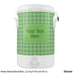 Shop for Pretty Igloo coolers on Zazzle. Make your next picnic, tailgate, or barbecue stylish with one of our coolers. Green Gifts, Pretty Green, Green Colors, Beverage, Stationery, Make It Yourself, Floral, Pattern, Colors Of Green