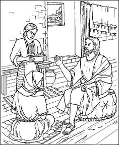 mary and martha coloring page.html