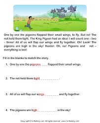 Related image First Grade Reading Comprehension, Picture Comprehension, Reading Comprehension Worksheets, Reading Passages, English Creative Writing, English Writing Skills, English Lessons, Learn English, 1st Grade Reading Worksheets