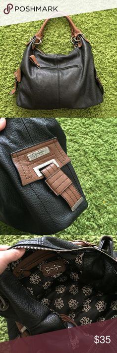 Jessica Simpson black brown shoulder purse Jessica Simpson black brown shoulder purse Jessica Simpson Bags Shoulder Bags