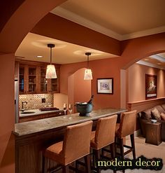 This is my kitchen paint color – Cavern Clay by Sherwin Williams 🙂 21 Magical Minimalist Decor Ideas To Have – Warm terra cotta color kitchen. This is my kitchen paint color – Cavern Clay by Sherwin Williams 🙂 Source Kitchen Paint Colors, Room Paint Colors, Warm Kitchen Colors, Brown Kitchen Paint, Kitchen Paint Design, Neutral Kitchen, Nice Kitchen, Cozy Kitchen, Living Room Paint