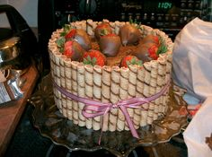 Chocolate covered strawberry cake!