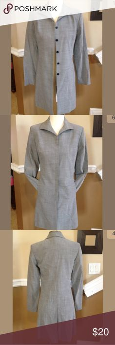 Ann Taylor Stretch Gray Coat Great coat from Ann Taylor, size 4P. Ann Taylor Jackets & Coats Trench Coats