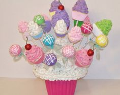 Giant Fake Cupcake First Birthday by FakeCupcakeCreations on Etsy
