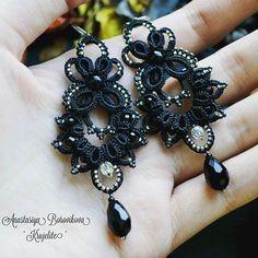 Tatting Earrings, Tatting Jewelry, Lace Earrings, Lace Jewelry, Handmade Jewelry, Needle Tatting, Tatting Lace, Tatting Tutorial, Tatting Patterns