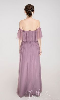 Off the shoulder bridesmaid dress with ruffle sleeves TBQP543 #wedding #weddinginspiration #bridesmaids #bridesmaiddresses #bridalparty #maidofhonor #weddingideas #weddingcolors #tulleandchantilly