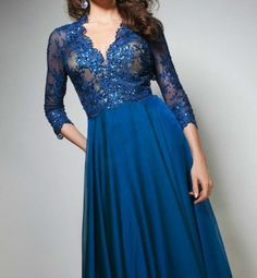 TBE21397 TONY BOWLS EVENING❤BEST Price GUARANTEE❤LAYAWAY❤long GOWN BLUE 2 4 6 8