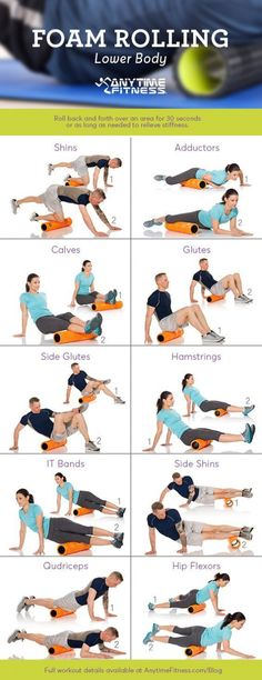 Foam rolling lower body at Anytime Fitness Hounslow Yoga Pilates, Pilates Reformer Exercises, Rouleau Anti Cellulite, Lower Body Stretches, Flexibility Stretches, Foam Roller Stretches, Anytime Fitness Gym, Roller Workout, Foam Rolling