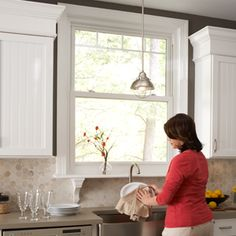 Who Said Dishes Have to Be Boring? Open up the kitchen sink area with an energy efficient casement or double hung Simonton Window. Exterior Patio Doors, Window Trim, Simonton, Windows, Windows Exterior, House Exterior, Double Hung Windows, Exterior, Window Vinyl