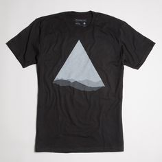 Under The Mountain Tee A play on the triangle as a mountain