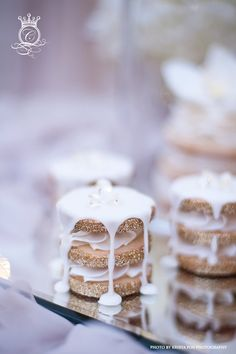 Edible diamonds perch above smooth icing that cascades over scrumptious cookies! By Connie Cupcake