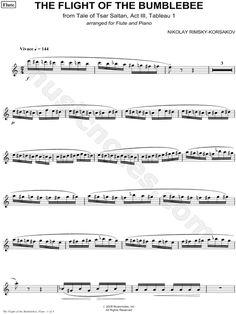 The Flight of the Bumblebee - Flute part Composed by Nikolai Rimsky-Korsakov - Digital Sheet Music