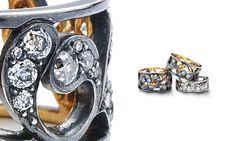 McTeigue & McClelland Pierced Flora Noir Ring, great Wedding Band