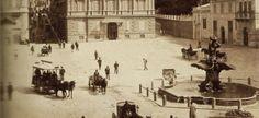 Anonimo, Piazza Barberini con la fontana del Tritone (opera del Bernini), Roma 1880-1890, albumina 198x260 [Particolare]
