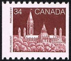 Sello: Parliament (Canadá) (Definitives 1985-2000) Mi:CA 968,Sn:CA 952,Yt:CA 913,Sg:CA 1158