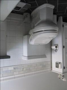 Toto Promenade toilet with Inax advanced toilet seat Bathroom Renos, Bathrooms, Shower Fixtures, Black Floor, White Walls, Toilet Paper, Tower, Vanity, Doors
