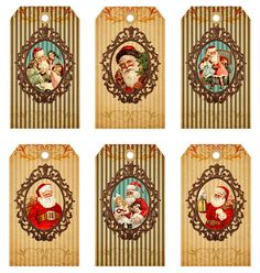 Christmas Gift Tags on Digital Collage Sheet by FrezeArt on Etsy