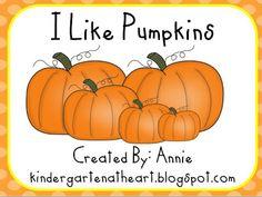 I Like Pumpkins Freebie - Kindergarten At Heart
