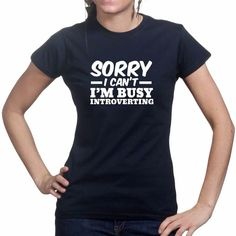 Sorry Introverting Funny Gamer Geek Gaming Game Ladies Womens Girls T shirt | Clothes, Shoes & Accessories, Women's Clothing, T-Shirts | eBay!