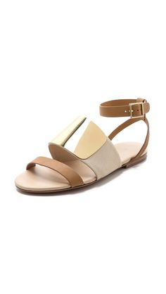 See By Chloe Banded Flat Sandals - Panna