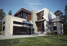 Facade de maison m langeant la pierre et le bois maison for Foyer exterieur costco