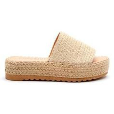 The Del Mar platform sandal is intricately made with rows of woven raffia, creating the upper and platform sole. This sandal also features a padded insole and tread bottom for comfort and security. Espadrille Sandals, Espadrilles, Slingback Mules, Toe Length, Most Comfortable Shoes, Everyday Shoes, Slide Sandals, Wedge Sandals, Casual Shoes