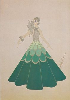 Erte Print Book Plate. Art Deco Design. Original Vintage Art Print. Gorgeous And…