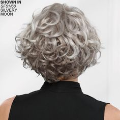 Meryl WhisperLite® Wig by Paula Young® - Cheveux - Natural Curly Hair, Grey Curly Hair, Short Wavy Hair, Curly Hair Cuts, Thick Hair, Curly Hair Styles, Natural Hair Styles, Short Curly Haircuts, Curly Bob Hairstyles