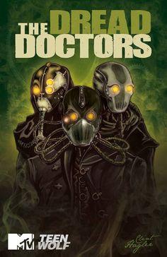 The Dread Doctors book cover fan art #DreadDoctors #TeenWolf #FanArt