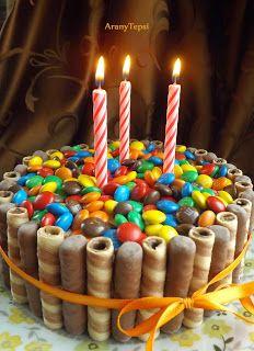 AranyTepsi: Cukorkás torta szülinapra
