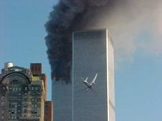 Sept. 11, 2001 Twin Towers, 2nd plane hitting the 2nd Tower.