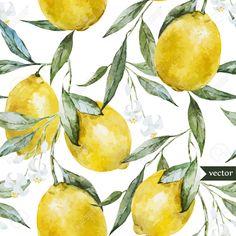 36354311-Modelo-hermoso-de-la-acuarela-del-vector-con-los-limones-amarillos-en-el-brunch-Foto-de-archivo.jpg (1300×1300)