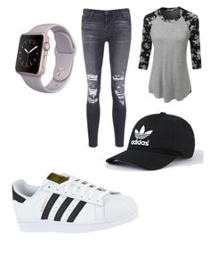 """""""Untitled #25"""" by immortalheart on Polyvore featuring LE3NO, J Brand and adidas"""