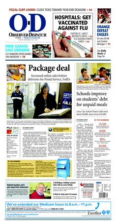 The front page for Tuesday, Dec. 4, 2012: Package deal.