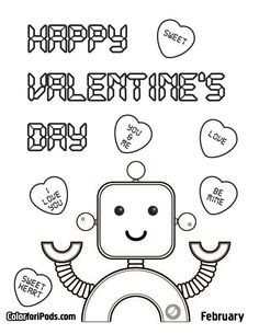 valentines coloring pages valentines day coloring pages