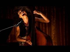 Musician and rising star Esperanza Spalding performs Tell Him on the double bass at the White House Evening of Poetry, Music, and the Spoken Word on May 12, 2009.   (public domain)
