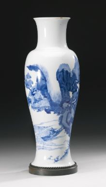 A BLUE AND WHITE BALUSTER VASE QING DYNASTY, KANGXI PERIOD - Sotheby's