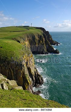Mull of Galloway, Scotlands most southerly point, Rhins of Galloway, Dumfries & Galloway, Scotland - Stock Image Galloway Scotland, Stock Photos, Amazing, Water, Outdoor, Image, Gripe Water, Outdoors, Outdoor Games