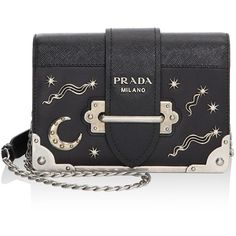 Prada Cahier Studded Saffiano & Leather Shoulder Bag (127.665 RUB) ❤ liked on Polyvore featuring bags, handbags, shoulder bags, man bag, hand bags, prada shoulder bag, shoulder bag purse and purse shoulder bag