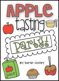Apples tasting party 5 senses
