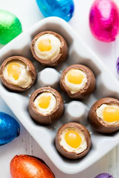 These Cheesecake Filled Easter Eggs are a fun Easter treat that are easy to make! They look just like an egg!