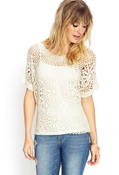 Crochet Lace Knit Top | FOREVER21 #F21Contemporary #Crochet #SummerForever