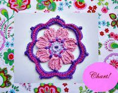 Image result for crochet square african flower