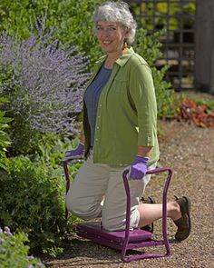 Deep-Seat Garden Kneeler - I could certainly use one of these.