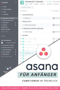 Kanban Board, Life Organization, Asana, Uni, Software, Blog, Ipad, Mindfulness, School
