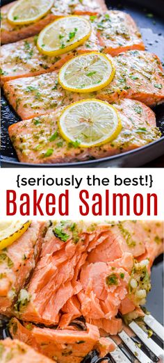 So easy Oven Roasted Salmon with the best marinade 20 minute salmon recipe from start to finish and a family favorite It s a keeper for sure salmon roastedsalmon ovenbakedsalmon ovenroastedsalmon easysalmon garlicsalmon dijonsalmon seafood fish Salmon Dinner, Fish Dinner, Oven Roasted Salmon, Oven Salmon Recipes, Chicken Recipes, Baked Salmon With Lemon, Salmon Meals, Garlic Salmon, Baked Salmon Easy