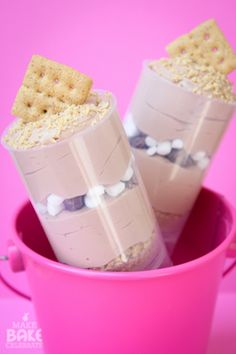 S'mores push pop parfaits. It's always the right time for s'mores. Especially when they are in push pops!