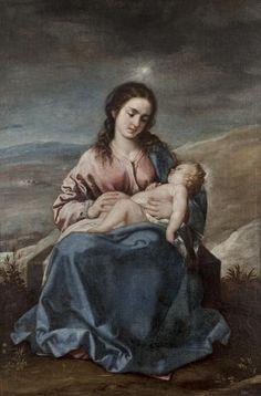 Virgin and Child or The Virgin of the Bright Star / La Virgen con el Niño o Virgen del Lucero // 1645 - 1652 // Alonso Cano // #JesusChild #VirginMary # #ThroneOfGod #motherhood #NiñoJesús #VirgenMaría